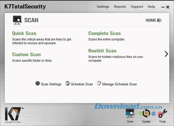 K7 Total Security 13.1.0186 - برنامج أمان الكمبيوتر بشكل فعال