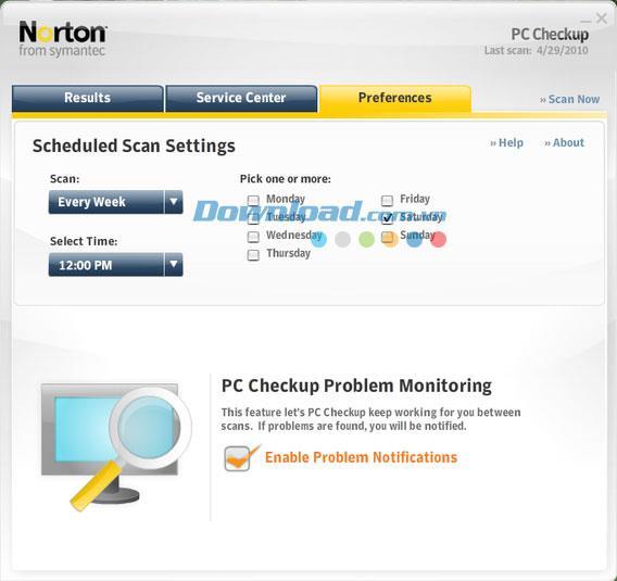 Norton PC Checkup 3.0.3 - أداة تشخيص مجانية للكمبيوتر الشخصي