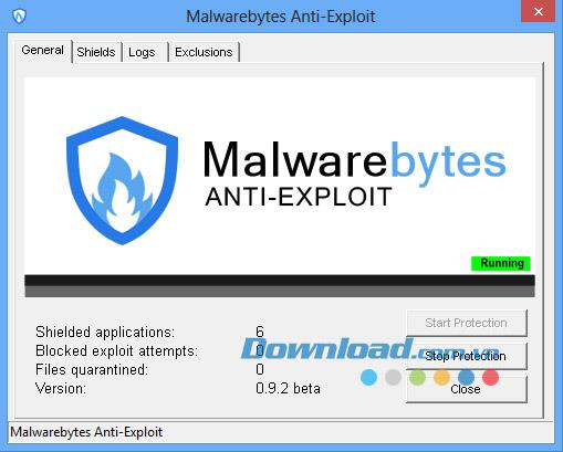 MalwareBytes Anti-Exploit 0.9.2 Beta - منع الثغرات الأمنية