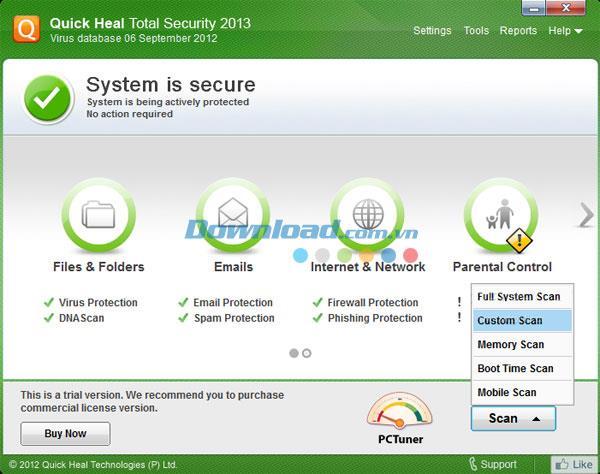 Quick Heal Total Security - حل أمان شامل للكمبيوتر