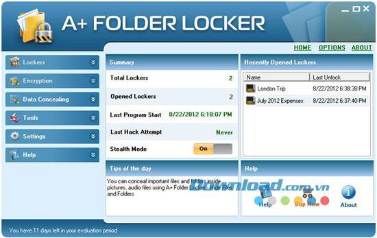 A + Folder Locker 1.1 - تأمين بياناتك المهمة