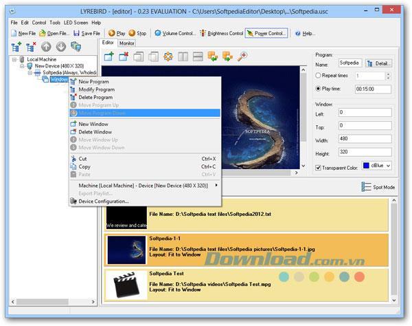 Lyrebird 0.23 - برنامج عرض الوسائط