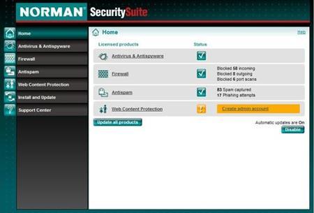 Norman Security Suite 10.1 - حماية الكمبيوتر عند تصفح الويب