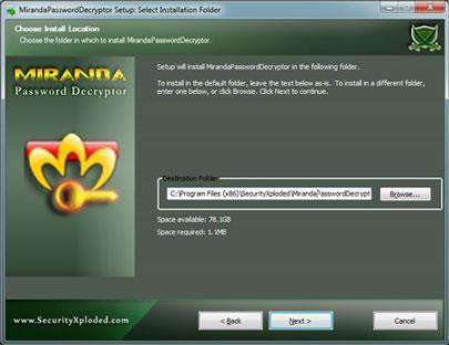 برنامج MirandaPasswordDecryptor Portable 1.5 - يستعيد كلمة مرور حساب تخزين Mirinda
