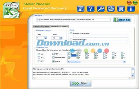 ؛ Stellar Phoenix Excel Password Recovery - استعادة كلمات المرور لبرنامج MS Excel