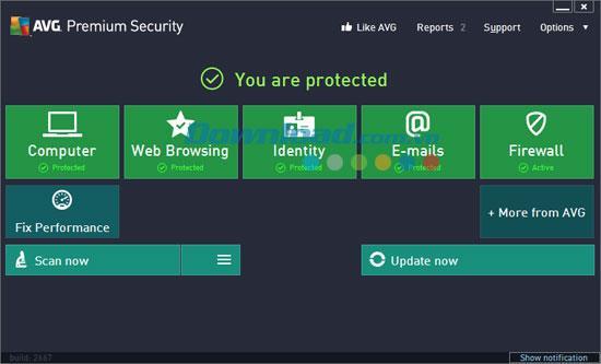 AVG Premium Security 13.0.2904 - حل لحماية الكمبيوتر الشاملة