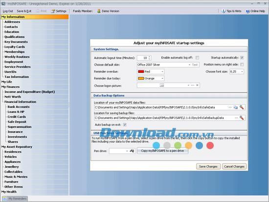 myINFOSAFE 2.2.1 - تنظيم وحماية بياناتك الشخصية