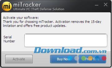 برنامج miTracker 1.2.1 - برنامج تحديد موقع الكمبيوتر المحمول