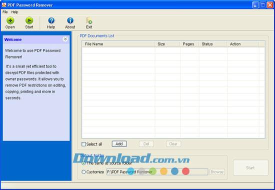 PDF Password Remover 5.0.0 - إزالة كلمات المرور من ملفات PDF
