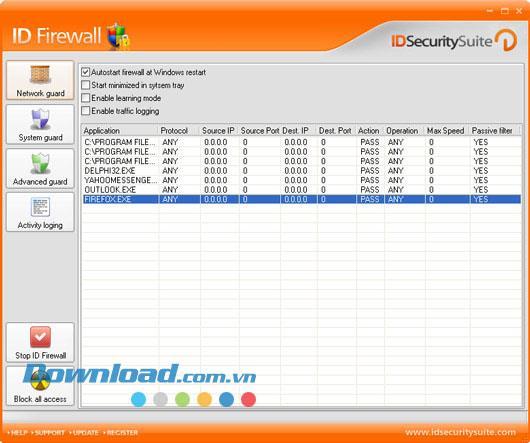 معرف جدار الحماية 1.2 - حماية شاملة للكمبيوتر