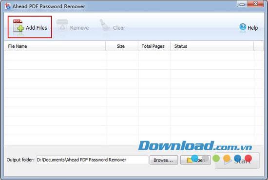 Ahead PDF Password Remover 2.0.0 - إزالة كلمات المرور في ملفات PDF