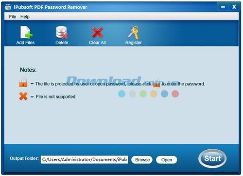 iPubsoft PDF Password Remover 2.1.1 - إزالة حماية ملفات PDF بكلمة مرور