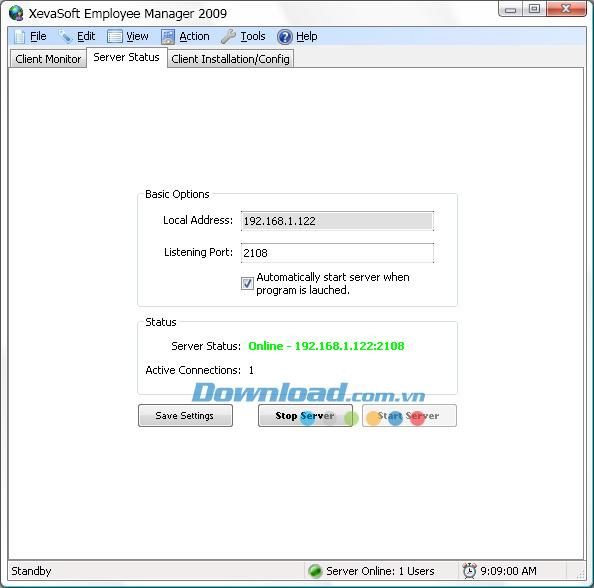 XevaSoft Employee Manager 2009 1.4.1 - برنامج قوي لإدارة الموظفين