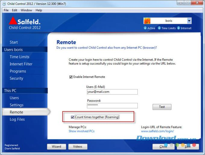 Salfeld Child Control 2012 12.464.0.0 - مراقبة أنشطة الأطفال عبر الإنترنت