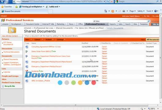 تعاون إلكتروني آمن - أمان البيانات في Microsoft SharePoint