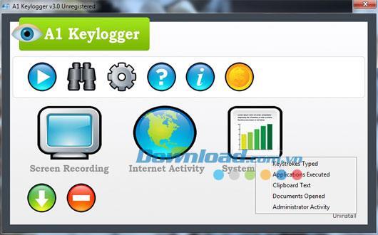 A1 Keylogger 3.4 - برنامج لمراقبة أجهزة الكمبيوتر والإنترنت