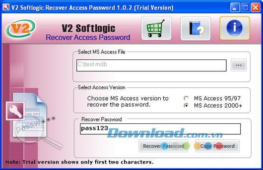 V2 Softlogic Recover Access Password 1.0.2 - استعادة كلمات مرور الوصول
