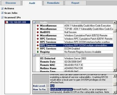 Retina Network Security Scanner 5.14 - يكتشف نقاط الضعف في النظام