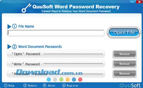 QuuSoft Word Password Recovery 2010.1.2.0 - استعادة كلمات مرور الكلمات