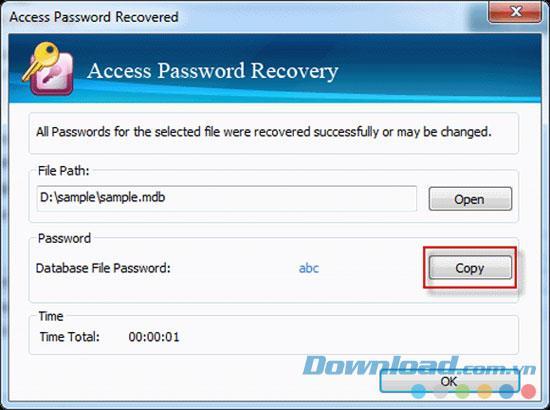Vodusoft Access Password Recovery 4.0.0.06 - استعادة كلمة مرور الوصول السريع
