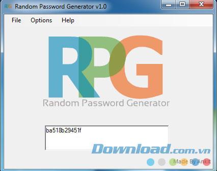 ؛ Random Password Generator 1.0 - إنشاء كلمات مرور عشوائية