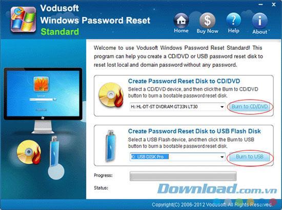 Vodusoft Windows Password Reset 6.0.0.06 - استعادة كلمات مرور Windows