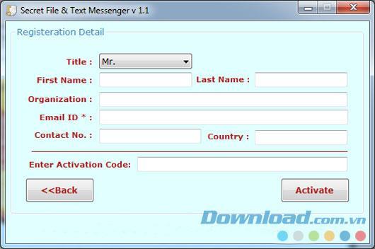 ؛ Secret File & Text Messenger 1.1 - إخفاء ملف نصي على الصورة