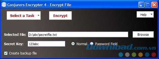 Conjurers Encrypter 4 4.0 - تقوم هذه الأداة بتشفير الملفات والمجلدات