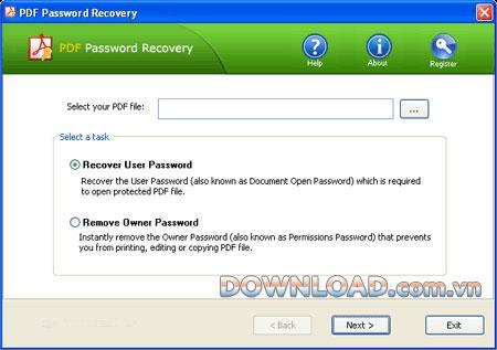 Top Password PDF Password Recovery - استعادة كلمات مرور PDF