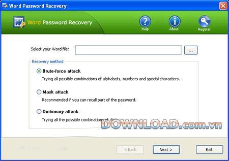 ؛ Word Password Recovery - استعادة كلمات مرور الكلمات