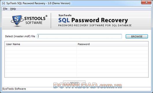 ؛ SysTools SQL Password Recovery - إعادة تعيين كلمة مرور خادم SQL