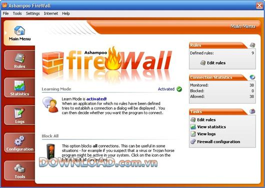 Ashampoo FireWall Free - استخدم الإنترنت بأمان