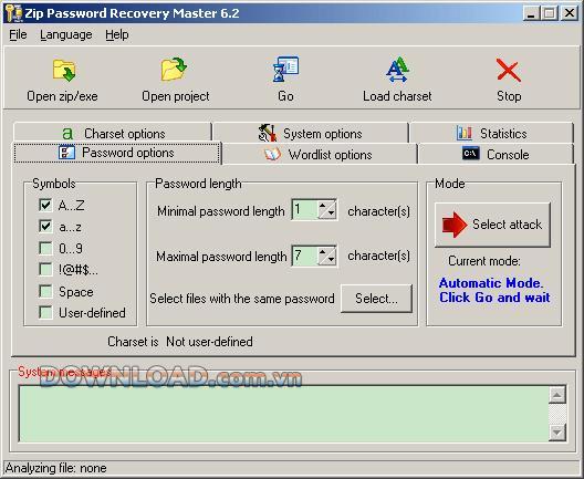 ؛ Zip Password Recovery Master - استعادة كلمات مرور ملف مضغوط