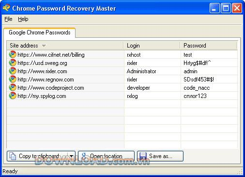 ؛ Chrome Password Recovery Master - استعادة كلمات مرور كروم
