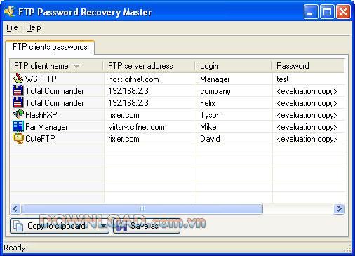 ؛ FTP Password Recovery Master - استعادة كلمات مرور FTP