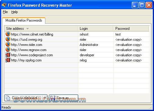 ؛ Firefox Password Recovery Master - استعادة كلمات مرور Firefox