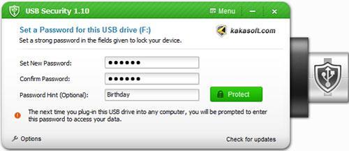 Kaka USB Security - محركات أقراص USB آمنة