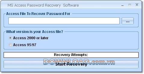 برنامج MS Access Password Recovery - استعادة كلمات مرور الوصول