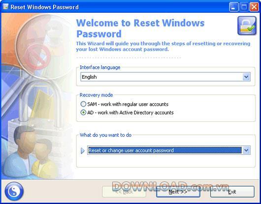 Passcape Reset Windows Password - إعادة تعيين كلمة مرور Windows