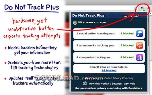 عدم التعقب الإضافي لمتصفح Chrome - منع مواقع الويب والمعلنين من تتبعك