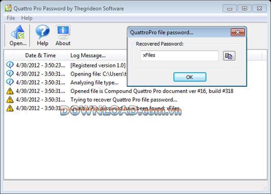 ؛ Quattro Pro Password Recovery - يستعيد كلمات مرور مستندات Quattro Pro