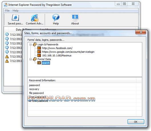؛ Thegrideon Internet Explorer Password Recovery - استعادة كلمات المرور في Internet Explorer