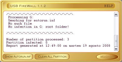 USB FireWall 1.1.3 - أداة لإيجاد ومنع انتشار الفيروسات عبر USB