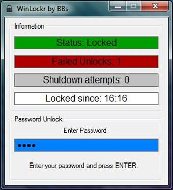 WinLockr 1.3 - أداة قفل الكمبيوتر