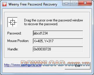 ؛ Weeny Free Password Recovery - استعادة كلمات المرور المخفية