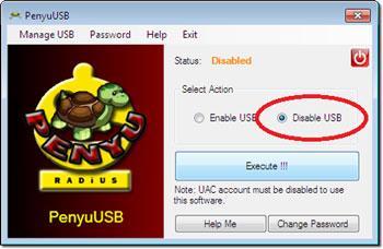 PenyuUSB 1.1.0 - تعيين كلمة مرور لـ USB