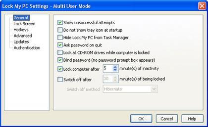 Lock My PC 4.9.5 - برنامج قفل الكمبيوتر
