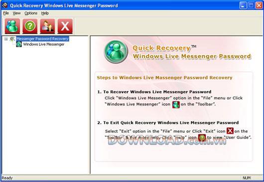 استعادة كلمة مرور Windows Live Messenger - استعادة كلمات مرور Windows Live Messenger