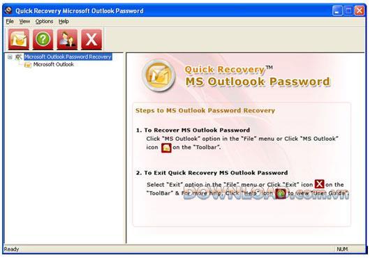 ؛ Quick Recovery Microsoft Outlook Password - استعادة كلمات مرور Outlook