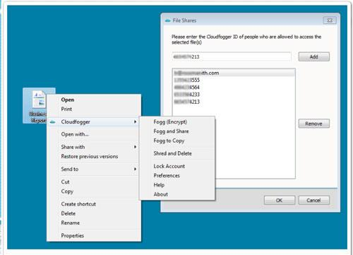 Cloudfogger - تشفير الملفات على Dropbox و Box.net و Skydrive